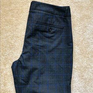 Gap Slim Cropped Pants Stretch Plaid Dress Trouser